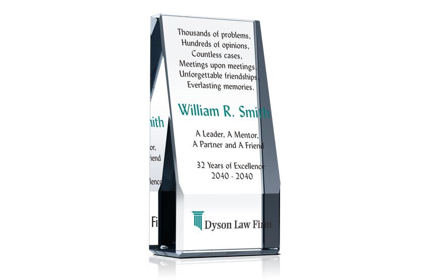 Lawyer Retirement Award Plaque