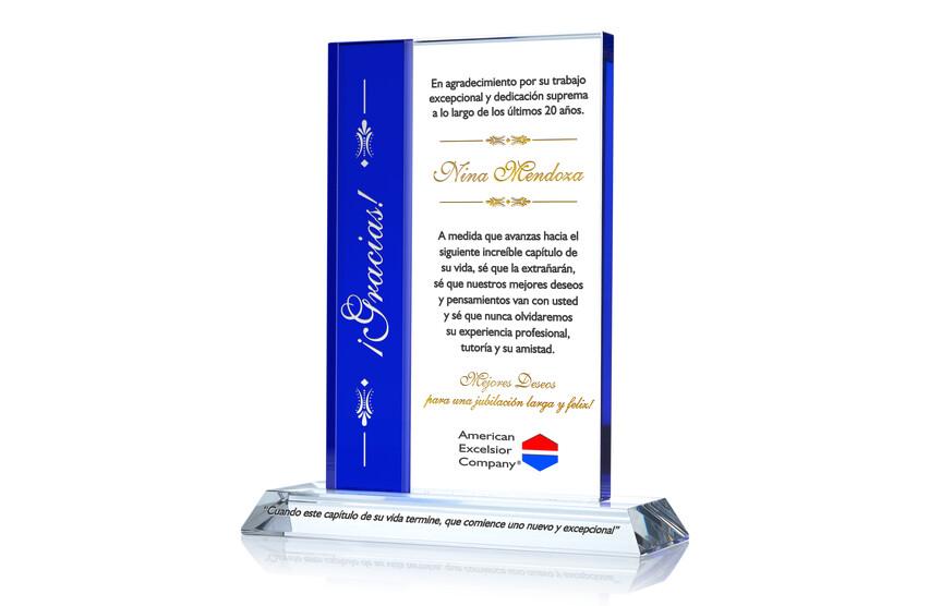 Premio Personalizado de Apreciación Para la Jubilación de Empleado