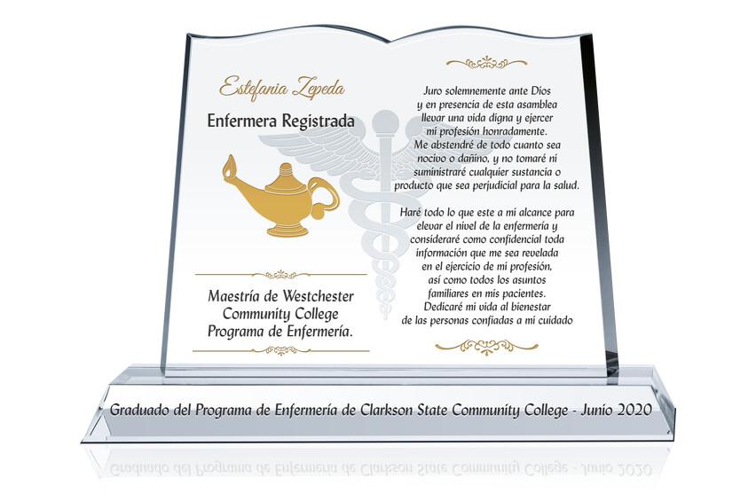 Placa de Regalo de Graduación de Enfermería