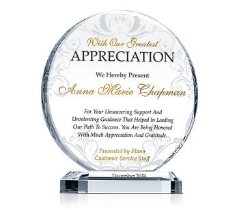 Circle Employee Award Plaques