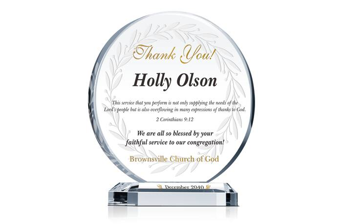 Religious Church Appreciation Gift Plaque