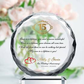 Crystal Anniversary Plaques