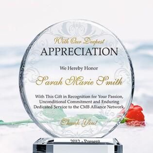 Crystal Appreciation Plaques